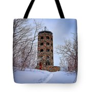 Enger Tower In Winter Tote Bag