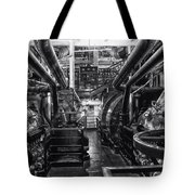Engine Room Queen Mary 02 Bw 01 Tote Bag