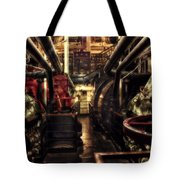 Engine Room Queen Mary 02 Sepia Tote Bag