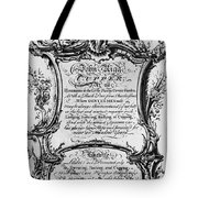 England: Cupper, 1700s Tote Bag