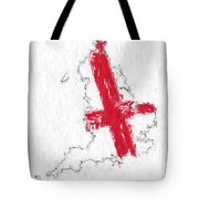 England Painted Flag Map Tote Bag