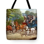 England Road Travel, 1880 Tote Bag