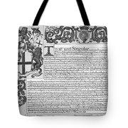 England Trade Charter Tote Bag