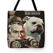 English Bulldog Art Canvas Print - Rear Window Movie Poster Tote Bag