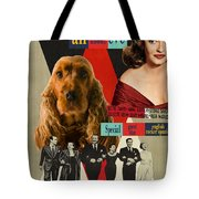 English Cocker Spaniel Art - All About Eve Tote Bag