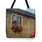 English Cottage Flower Box Tote Bag