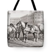 English Farm Horses, 1823 Tote Bag