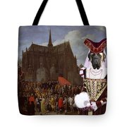 English Mastiff  - Mastiff Art Canvas Print - Waiting For Her Turn Tote Bag