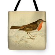 English Robin Tote Bag by Philip Ralley