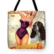 English Springer Spaniel Art Canvas Print - Doctor At Sea Movie Poster Tote Bag