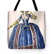 English Style Hooped Dress In Electric Tote Bag
