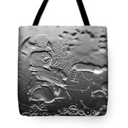 Engraved Snowman Playing The Piano Tote Bag