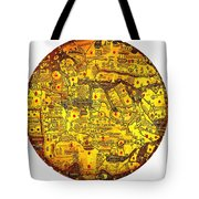 Engraved World Map Oriented With South Tote Bag