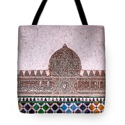 Engraved Writing And Colored Tiles No1 Tote Bag