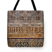 Engraved Writing And Colored Tiles No2 Tote Bag