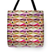 Enjoy Bliss Of Artistic Sensual Aura Lips  Kiss Romance Pattern Digital Graphic Signature   Art  Nav Tote Bag