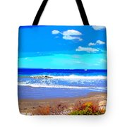 Enjoy The Blue Sea Tote Bag
