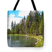 Enjoying Des Chutes River In Des Chutes Nf-or Tote Bag