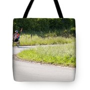 Enjoying The Red Poppy Ride Tote Bag