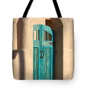 Enter Turquoise Tote Bag
