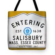 Entering Salisbury Tote Bag