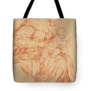 Enthroned Madonna And Child Tote Bag