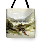 Entrance And Exit To Nablus Shechem Tote Bag