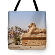 Entrance Sculpture By The Temple Of Karnak Tote Bag
