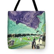 Entrance To A Large Garden In Dresden Tote Bag by Ernst Ludwig Kirchner