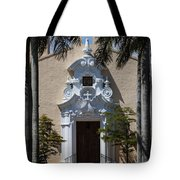 Entrance To Congregational Church Tote Bag