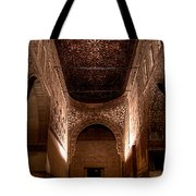Entrance To The Ambassadors Hall In The Alhambra Tote Bag