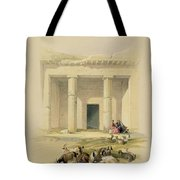 Entrance To The Caves Of Bani Hasan Tote Bag