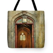 Entrance To The Gothic Revival Chapel. Streets Of Dublin. Painting Collection Tote Bag