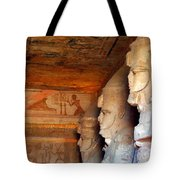 Entrance To The Great Temple Of Ramses II Tote Bag