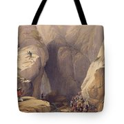 Entrance To The Kojak Pass From Parush Tote Bag