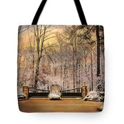 Entrance To Winter Tote Bag