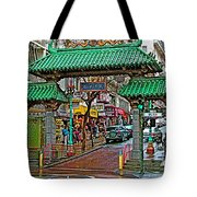 Entry Gate To Chinatown In San Francisco-california Tote Bag