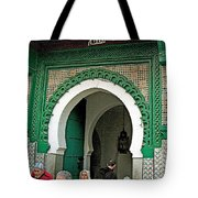 Entry To A Mosque For Men Only In Tangiers-morocco Tote Bag