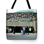 Entry To Church In The Rock In Helsinki-finland Tote Bag