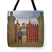 Entry To Fortress In Louisbourg Living History Museum-1744-ns Tote Bag