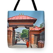 Entry To Pasupatinath Temple Of Cremation Complex In Kathmandu-nepal    Tote Bag