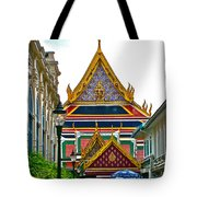 Entryway To Middle Court Of Grand Palace Of Thailand In Bangkok Tote Bag