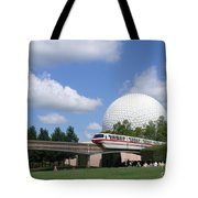Epcot And The Monorail Ride Tote Bag