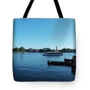 Epcot World Showcase Lagoon Panorama 01 Walt Disney World Tote Bag
