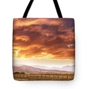 Epic Colorado Country Sunset Landscape Panorama Tote Bag