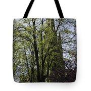 Episcopal Cathedral In Edinburgh Visible Through Trees Tote Bag