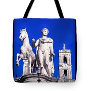 Equestrian Statue At Capitoline Hill Tote Bag