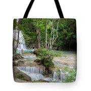 Erawan National Park In Thailand Tote Bag