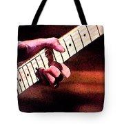 Eric Clapton Playing Guitar Tote Bag