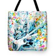 Eric Clapton - Watercolor Portrait Tote Bag